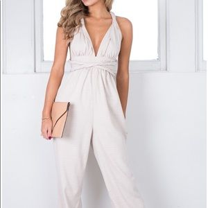 Pick and Choose Beige Jumpsuit